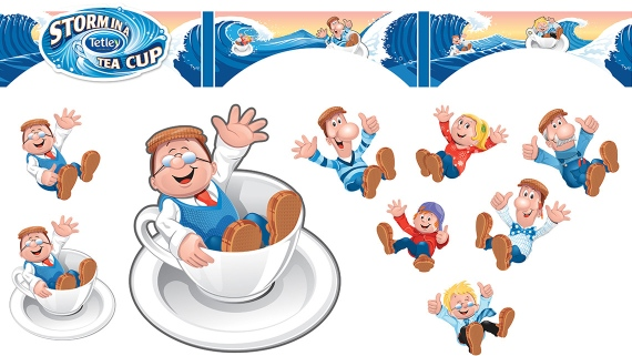 Tetley Tea ride gets a makeover at Thorpe Park - illustration
