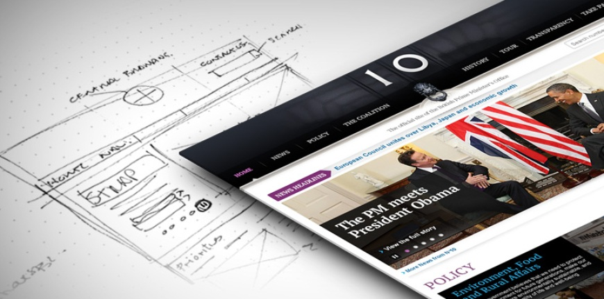 Wireframes and prototyping - Number 10 Downing Street